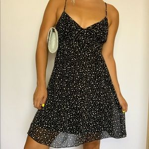 Polka dot spaghetti strap summer mini dress